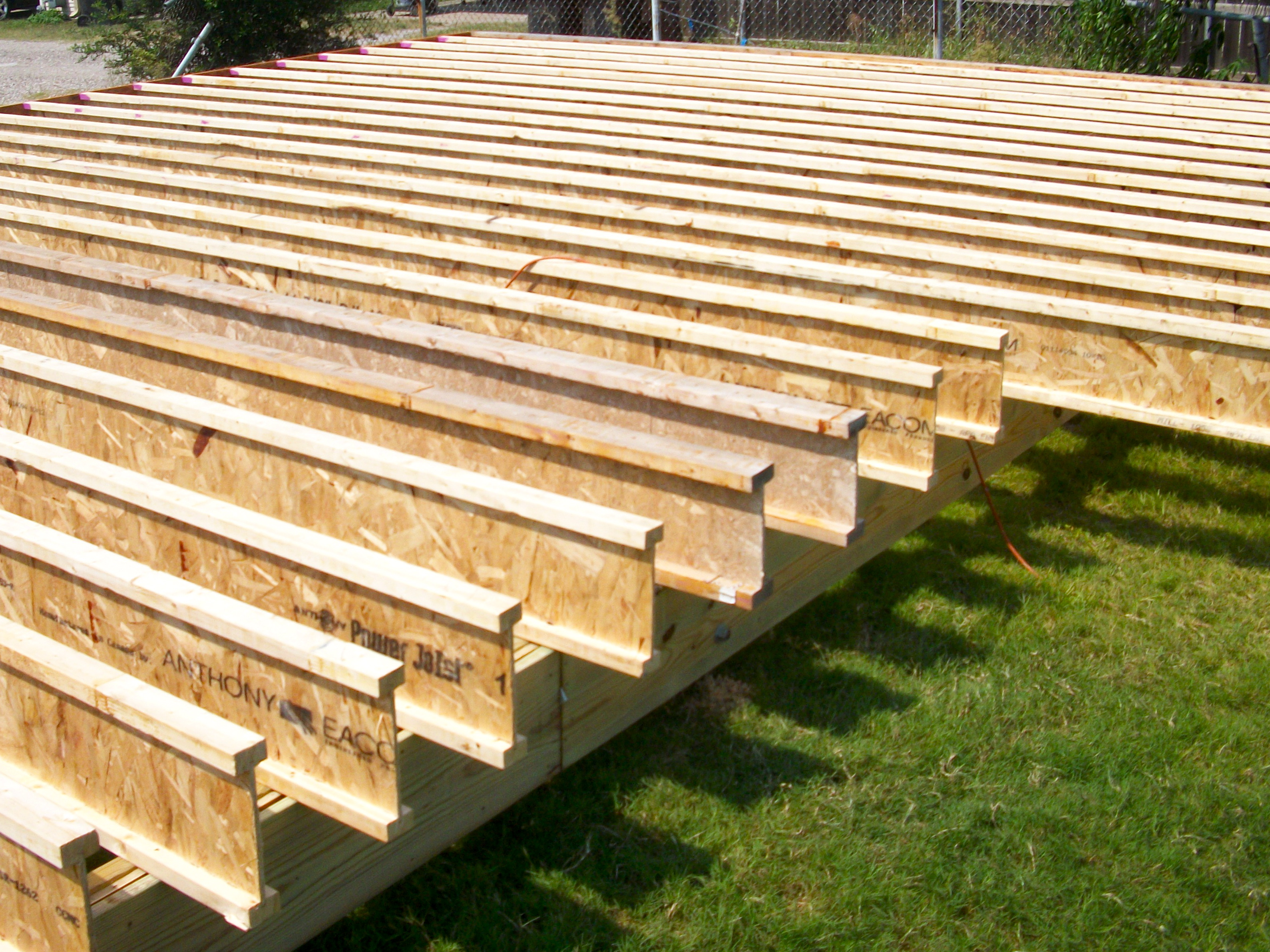 Diy how to build wood i joist download dewalt thickness for Lumber calculator for house