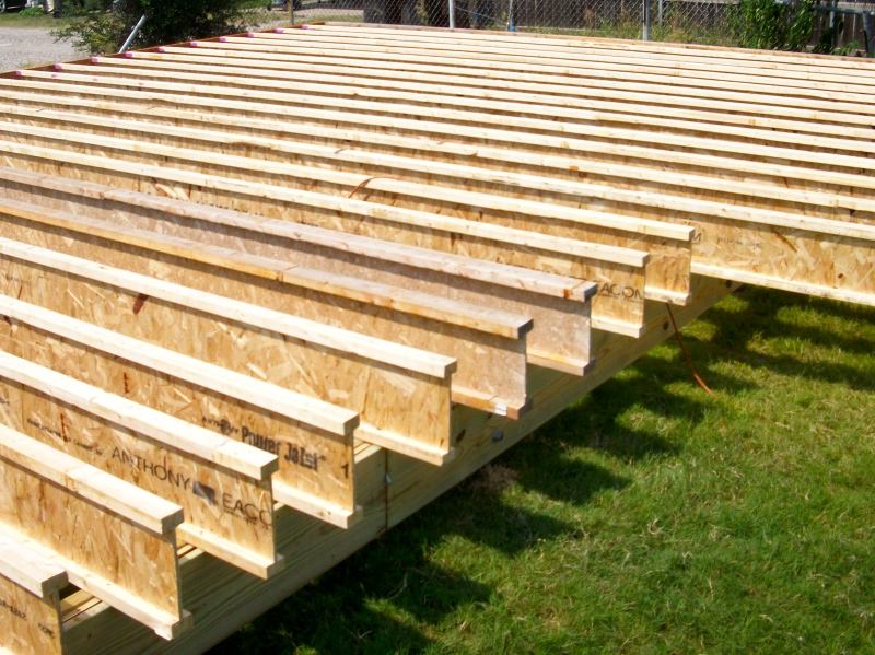 Diy how to build wood i joist download dewalt thickness for Wood floor joist construction