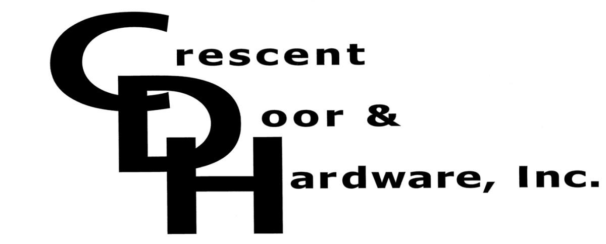 crescent door and hardware